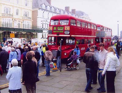 Routemaster buses on Llandudno Transport Festival Shuttle
