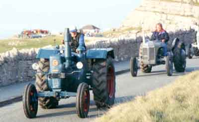 Tractor on road run