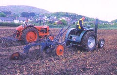 Tractor work on Bodafon Field